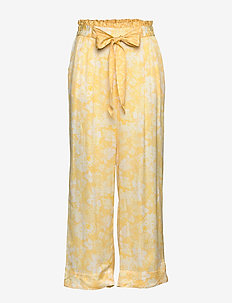 Pretty Printed Pants - pantalons larges - vintage yellow