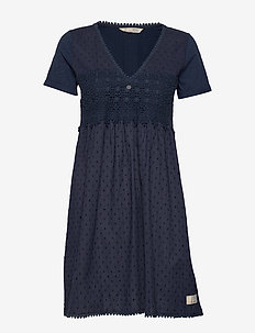 Finest Embroidery Dress - DARK BLUE
