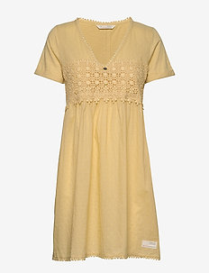 Finest Embroidery Dress - vintage yellow