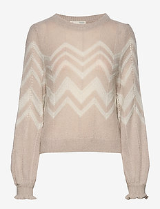 Magnetic Striped Sweater - grey