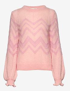 Magnetic Striped Sweater - purple dream
