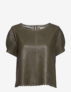The One Leather T-Shirt - FADED CARGO