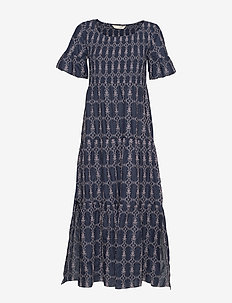 Powerful Cotton Dress - DK BLUE