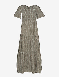 Powerful Cotton Dress - DRIED FOREST