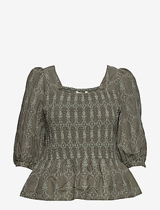 Powerful Cotton Top - DRIED FOREST