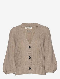 Nordic Love Knitted Cardigan - PEBBLE GREY