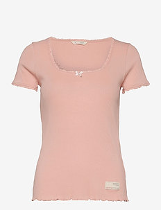 Magda Top - t-shirts - pink conch