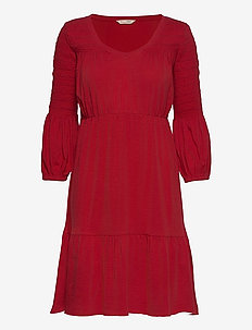 Gloria Dress - hverdagskjoler - cherry red