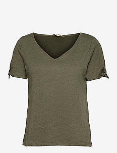 Kalei Top - t-shirts - frigid green