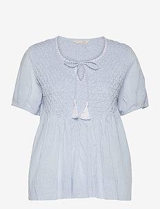 Darya Blouse - kortærmede bluser - blue dew