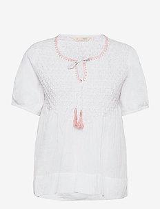 Darya Blouse - kortærmede bluser - bright white