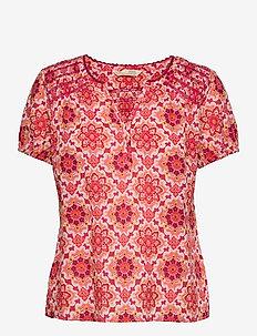 Myrtle Blouse - kortærmede bluser - pink fudge
