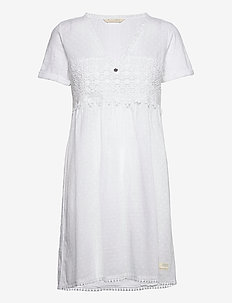 Finest Embroidery Dress - sommerkjoler - bright white