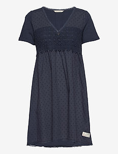 Finest Embroidery Dress - sommerkjoler - dark blue