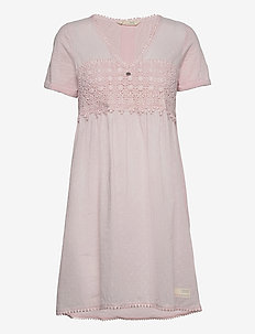 Finest Embroidery Dress - sommerkjoler - pink elder