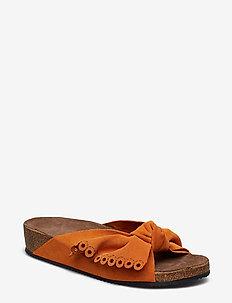 take a bow slipper - APRICOT
