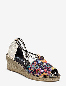 vivid garden high espadrillo - FRENCH NAVY