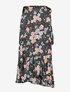 frill-fabulous skirt - MULTI BLACK