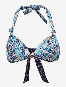 mystic halterneck bikini top - MINERAL BLUE