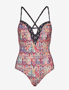mystic cross back swimsuit - AZALEA PINK