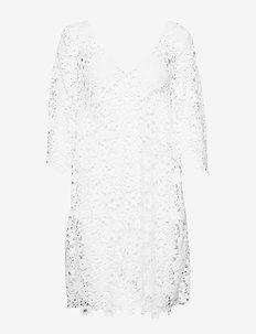 holy lace beach dress - LIGHT CHALK