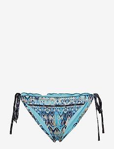 mystic tie tanga bikini bottom - MINERAL BLUE