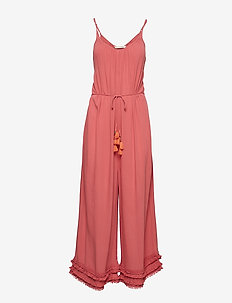 foot loose jumpsuit - DUSTED ROUGE