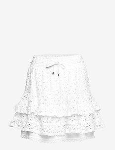 swag blossom skirt - LIGHT CHALK