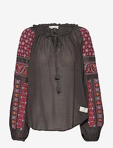 superflow blouse - ASPHALT
