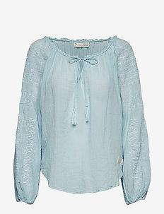 superflow blouse - HORIZON BLUE