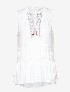 love chimes top - BRIGHT WHITE