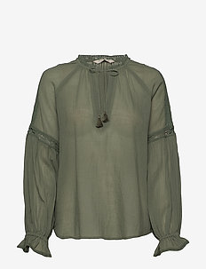 Way To Go Blouse - CARGO GREEN