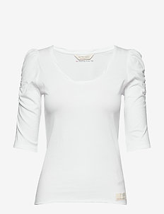 Feeling Fine Top - langærmede toppe - bright white