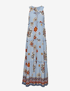 cruising around long dress - DOVE BLUE