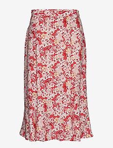 Sorrento Skirt - jupes midi - spiced coral