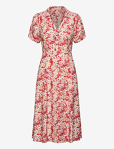 Sorrento Dress - robes chemises - spiced coral