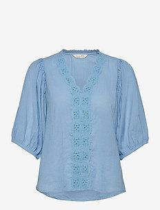Portofino Blouse - blouses à manches longues - alaskan blue