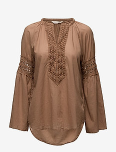 atmosphere l/s blouse - TOFFEE