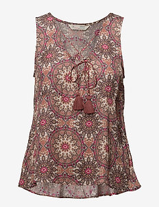 honey-coated tank top - LIGHT MAHOGNY