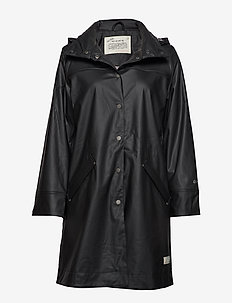 dashing drizzel rain jacket - ALMOST BLACK
