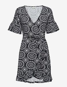 women empire dress - ALMOST BLACK