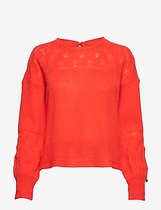my law sweater - cachemire - strong orange