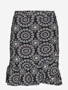 women empire skirt - ALMOST BLACK