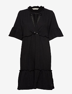 deep passion dress - ALMOST BLACK