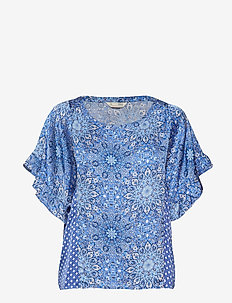 empowher blouse - SEA BLUE