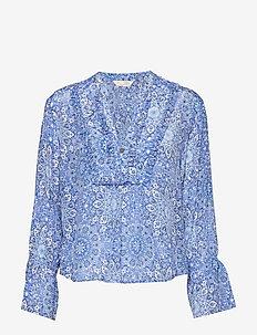 blossom blouse - SEA BLUE