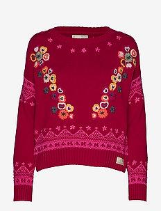 my dear sweater - GARNET RED