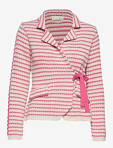 the knit jacket - SUGAR PINK