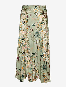 molly-hooked skirt - LICHEN GREEN