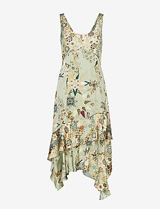 molly-hooked dress - LICHEN GREEN